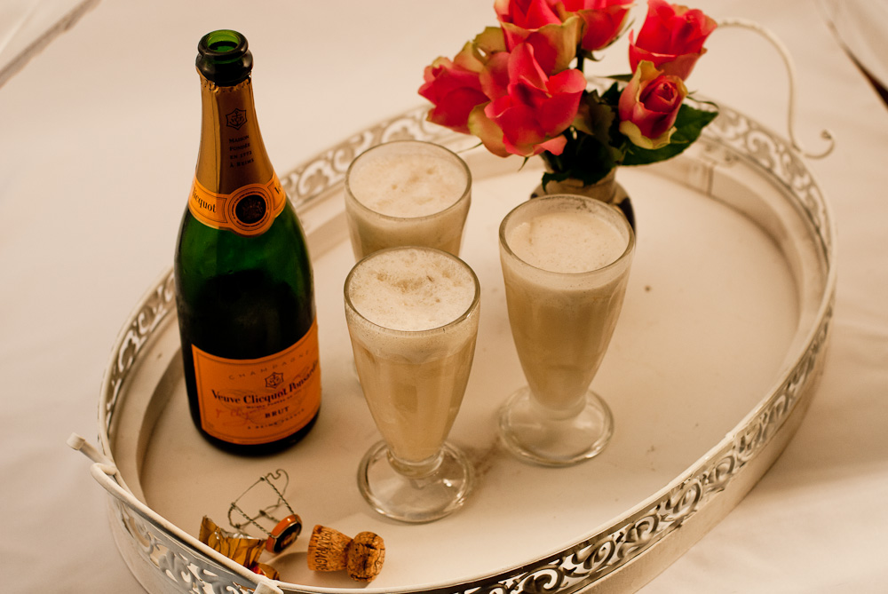 Zitronen-Champagner-Sorbet