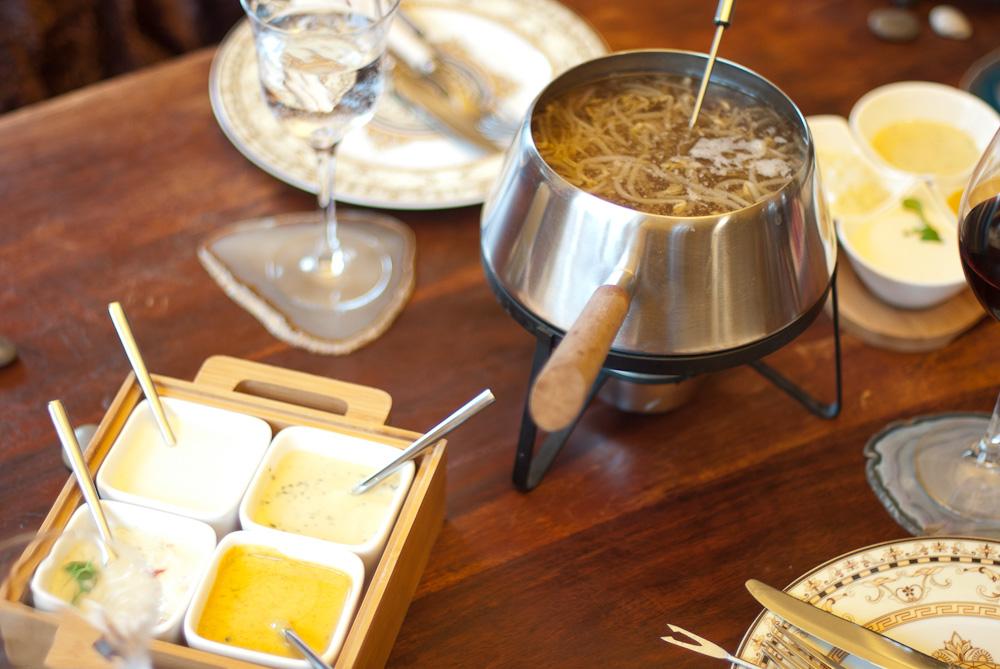 Asiatisches Fleisch-Fondue