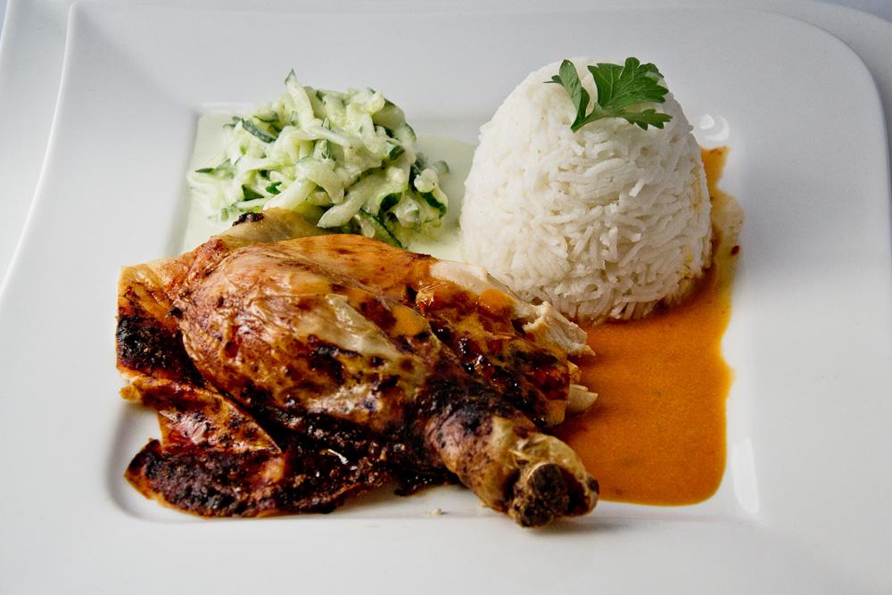 Huhn mit Chili-Rahm-Sauce